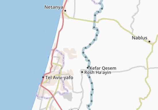 Kaart Plattegrond Newe Yamin