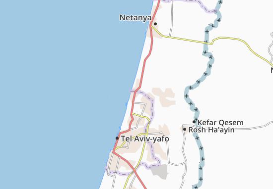 Kaart Plattegrond Kefar Shemaryahu