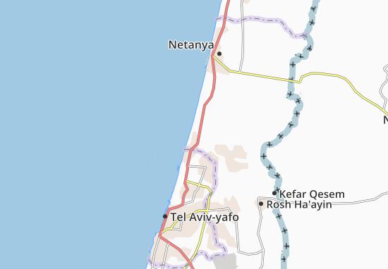 Shefayim Map