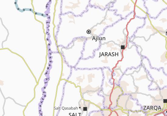 Ajlun Qasabah Map