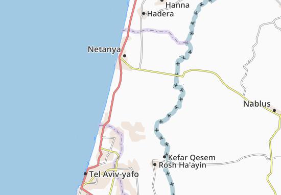 Kaart Plattegrond Kefar Ziw