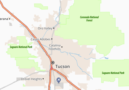 Catalina Foothills Map