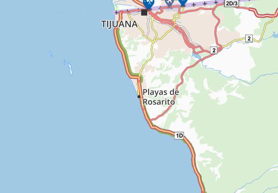 Carte-Plan Playas de Rosarito