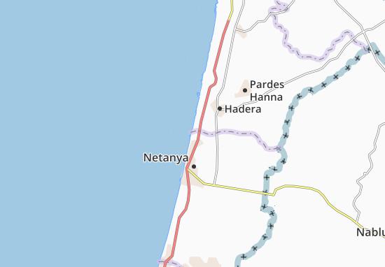 Mikhmoret Map