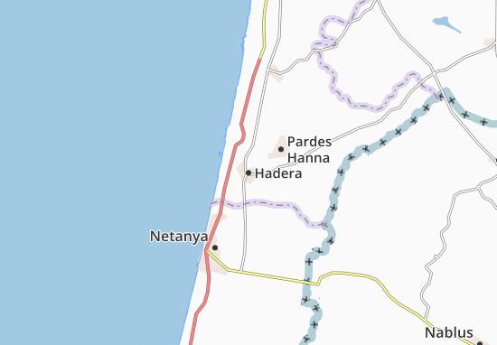 Hadera Map