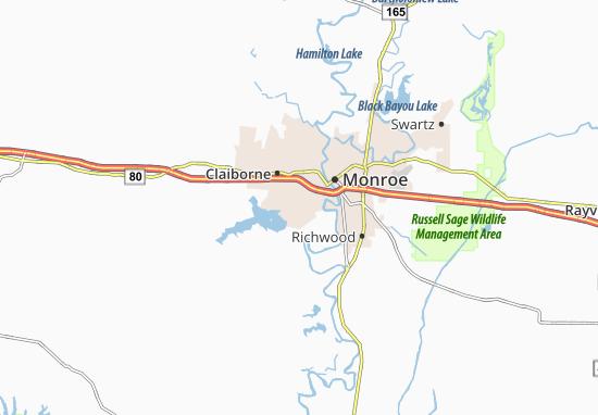 Brownsville-Bawcomville Map