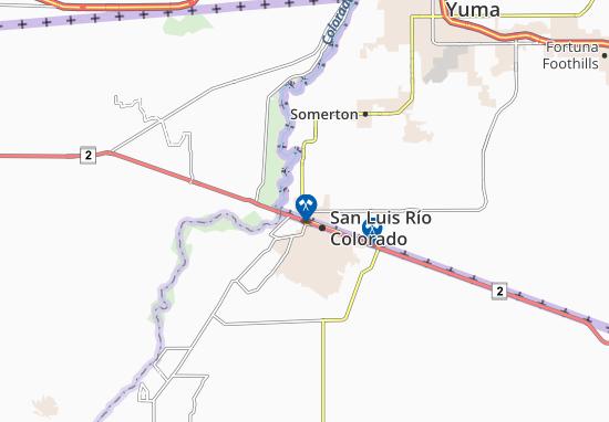 Map Of San Luis Michelin San Luis Map Viamichelin