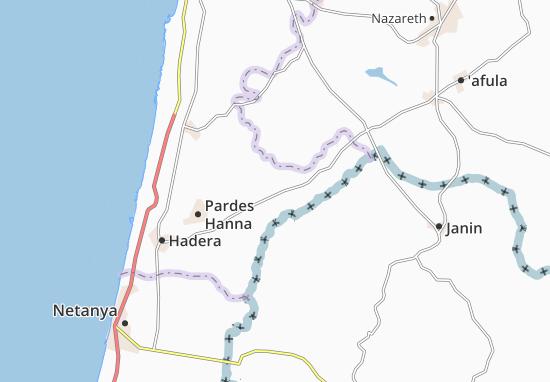 Kaart Plattegrond 'Ara