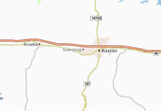 Grambling Corners Map