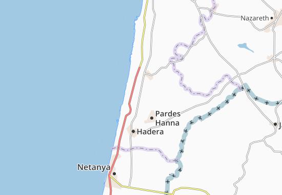 Binyamina Map