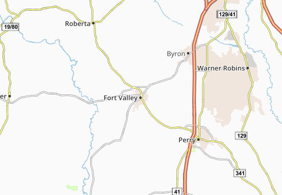Fort Valley Map