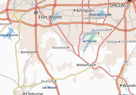 Mansfield Map