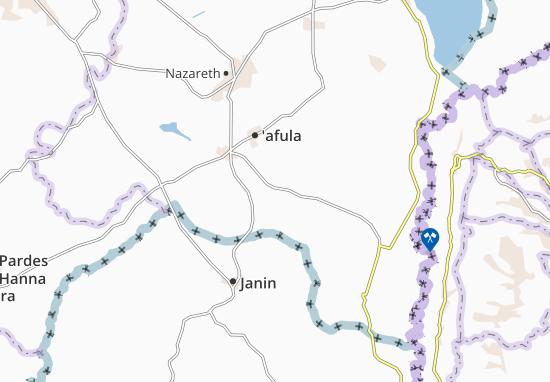 Mapas-Planos Kefar Yehezqel
