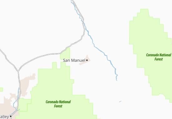 Carte-Plan San Manuel