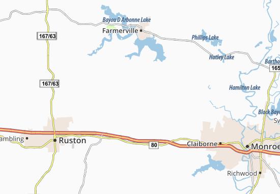 Downsville Map