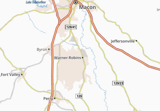 Warner Robins Map