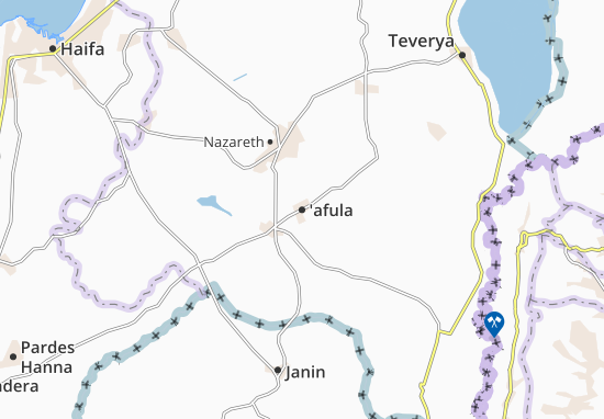 Carte-Plan 'afula