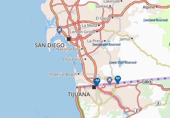 Kaart Plattegrond Chula Vista