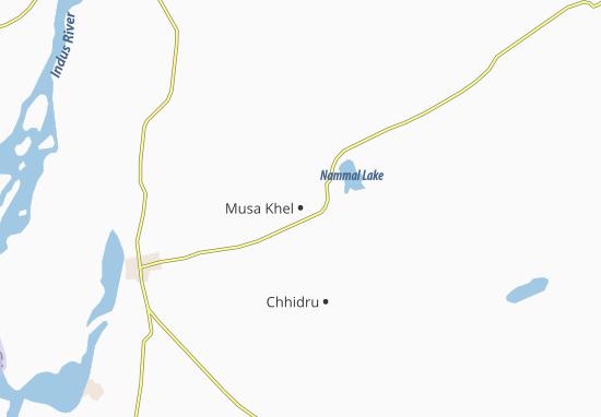 Kaart Plattegrond Musa Khel