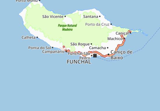 Câmara de Lobos Map