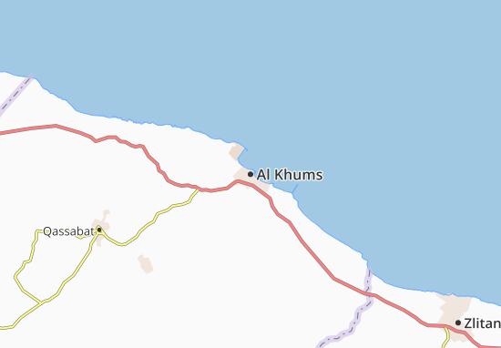Carte-Plan Al Khums