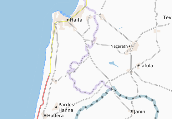 Yoqne'Am 'Illit Map