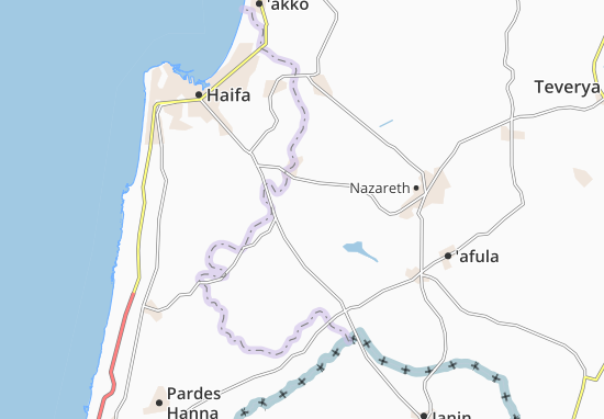 Kaart Plattegrond Kefar Yehoshua'