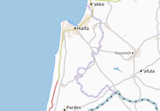 Daliyat El Karmil Map
