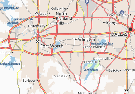 Dalworthington Gardens Map