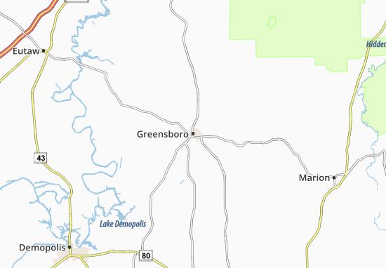 Carte-Plan Greensboro