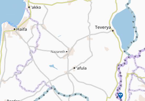 Nazerat 'Illit Map