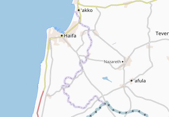 Qiryat Tiv'On Map