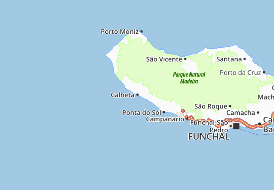 calheta mapa Calheta Map: Detailed maps for the city of Calheta   ViaMichelin calheta mapa