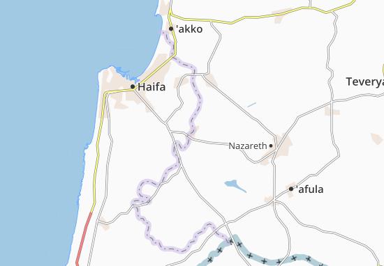 Kaart Plattegrond Ramat Hadassa