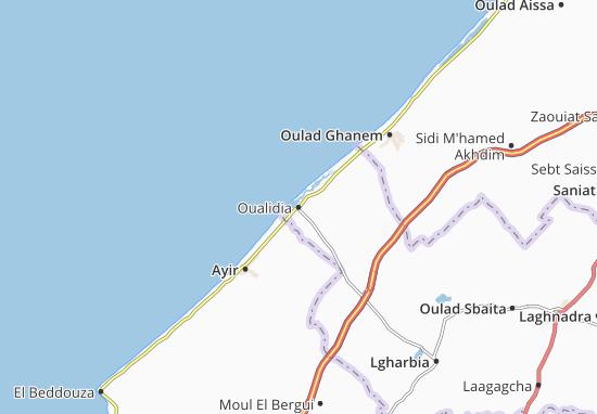 Carte-Plan Oualidia