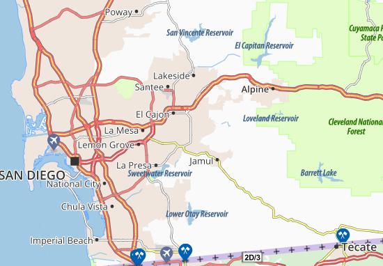 san diego karte Karte, Stadtplan Rancho San Diego   ViaMichelin