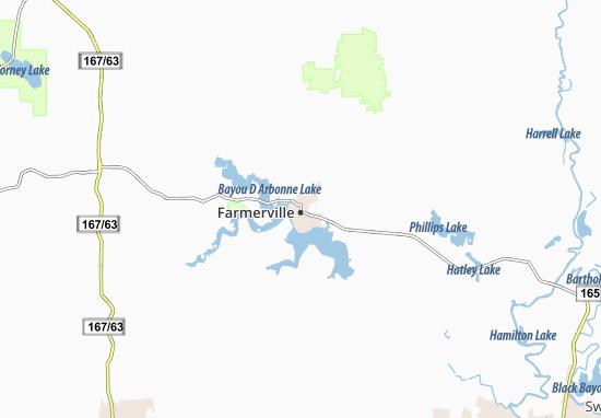 Farmerville Map