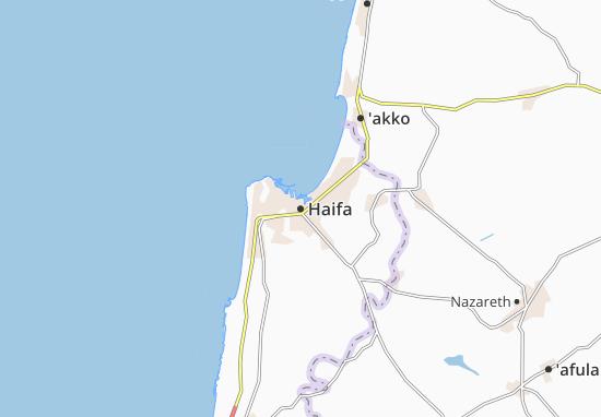 Kaart Plattegrond Haifa