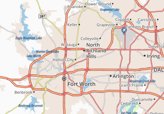 Richland Hills Map
