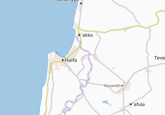 Kaart Plattegrond Qiryat Ata