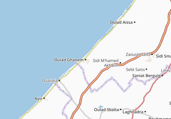 Carte-Plan Oulad Ghanem