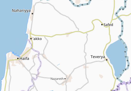 Sakhnin Map