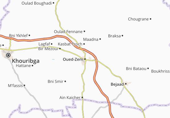 Carte-Plan Oued-Zem
