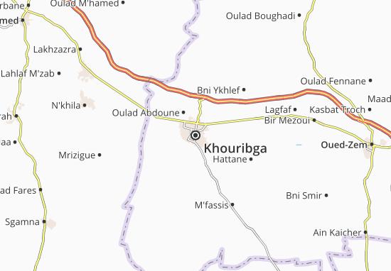Carte-Plan Khouribga