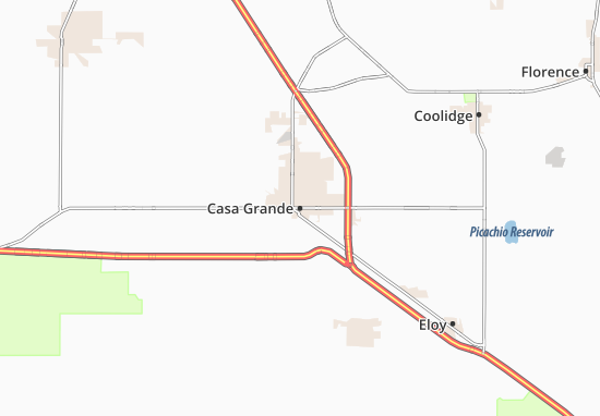 Kaart Plattegrond Casa Grande