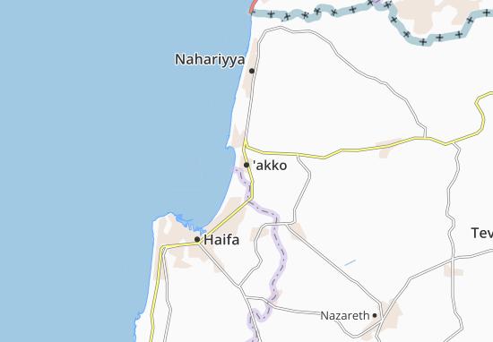 Kaart Plattegrond Kefar Masaryk