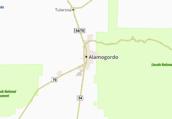 Carte-Plan Alamogordo