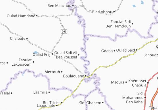 Carte-Plan Oulad Sidi Ali Ben Youssef