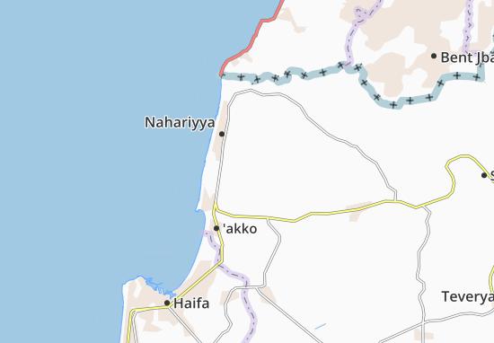 Kaart Plattegrond Bet Ha'Emeq