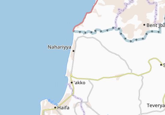Kaart Plattegrond Esh Sheikh Dannun